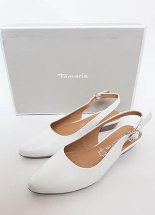 Туфли, балетки с открытой пяткой женские tamaris, на каблуке. ...