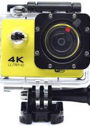 Экшн камера 4K wi-fi +Пульт+ Аквабокс +крепления аналог Go Pro