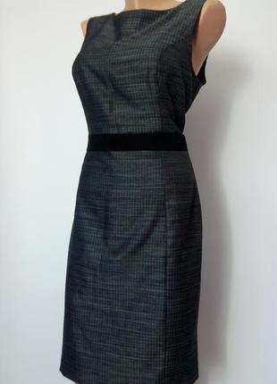 Платье миди футляр 48 50 размер офисное летнее  новое футляр  ...