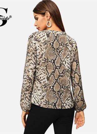 Шифоновая блузка,кофточка змеиный принт ,от h&m