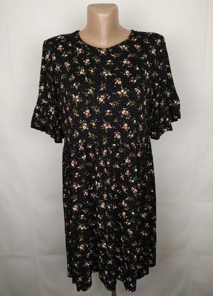 Платье модное вискозное трикотажное в принт boohoo uk 16/44/xl