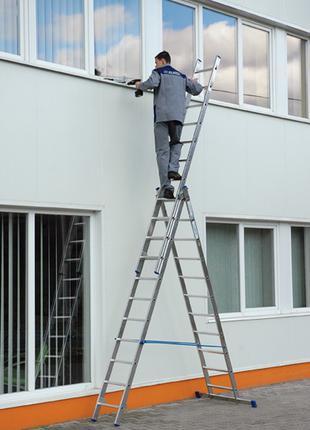 Лестница алюминиевая 3-секционная трансформер
