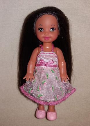 Кукла куколка маленькая Барби Келли Barbie Kelly + платье и обувь
