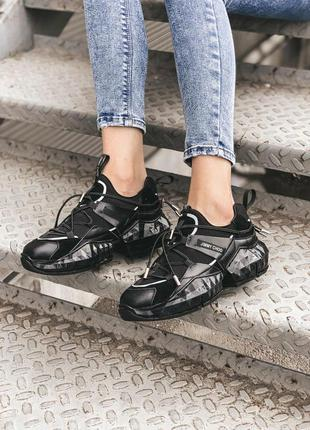 Jimmy choo black женские стильные кроссовки
