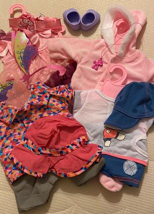 Набор одежды для Baby Born Беби Борн 4 костюмчика, обувь