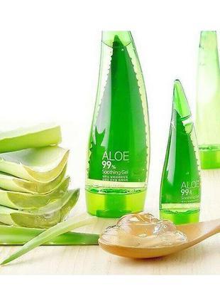 Универсальный гель holika holika aloe 99% soothing gel, корея.