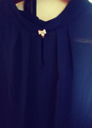 Синяя шифоновая блузка!