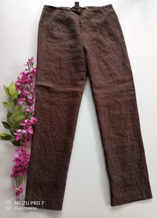 Крутие льняние штани брюки от бренда nikki valentine,s