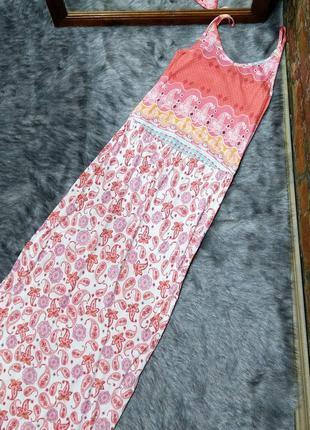 Длинное платье в пол на бретелях