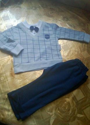 Нарядный костюмчик для мальчика 6-9 9-12 мес