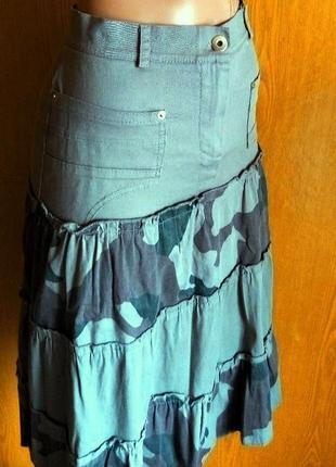 Итальянская юбка коттон разм.m новая демисезонная