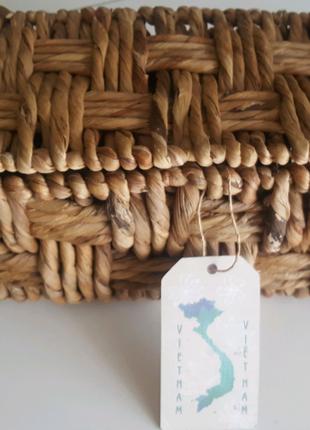 Корзина из натурального материала, шкатулка плетеная