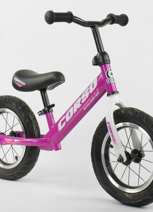 """Велобег CORSO 54307 стальная рама, колесо 12"""" надувные колёса"""