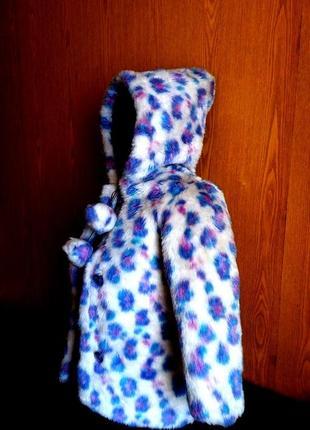 Яркая красивая теплая детская шуба длина 55 см на 4-5-6 лет (т...