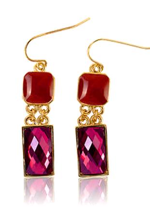 """Стильные серьги """"brilliant berry earrings"""" новые"""