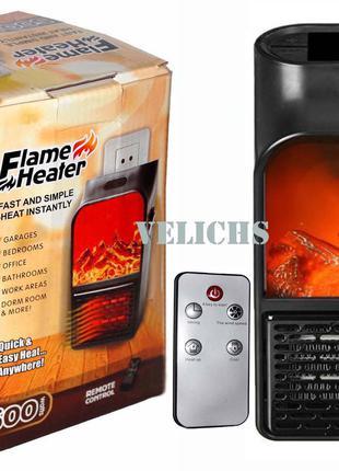 Портативный обогреватель Flame Heater с имитацией огня в камине