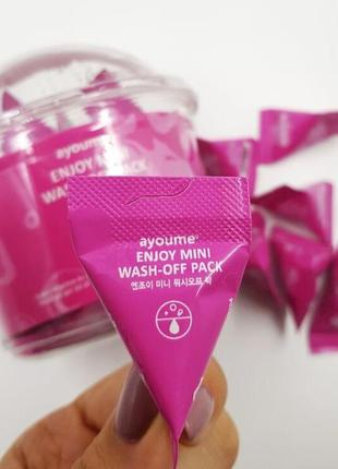 🌺матирующая маска для лица ayoume enjoy mini wash-off pack - 3 г