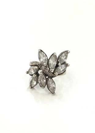 Кольцо с фианитами серебро 925 - размер 17