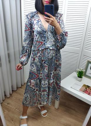 Воздушное платье в пол zara