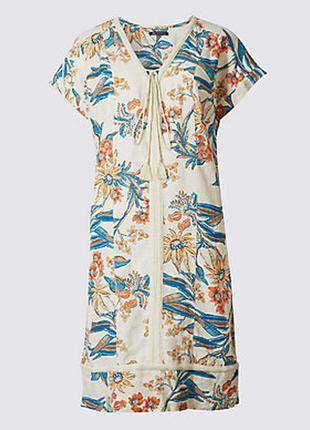 Льняное платье на лето marks & spencer