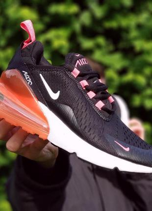 Женские черные кроссовки nike air max 270