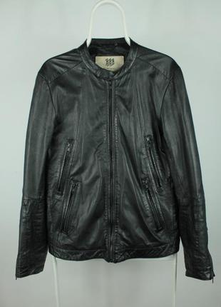Шикарная оригинальная кожаная курточка bertoni white line leat...
