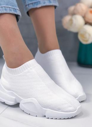 Белые текстильные кроссовки,летние белые кроссовки из текстиля