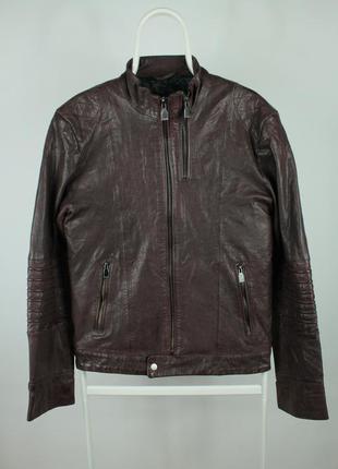 Стильная оригинальная кожаная курточка zara man black tag leat...