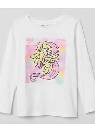 H&m детская кофта лонгслив пони для девочки на 6-8 лет