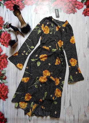 🌿красивое платье миди на запах. размер s🌿