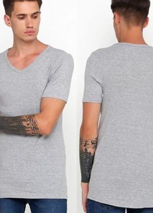 Нательная мужская футболка с v-образным вырезом р.хл