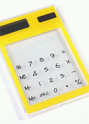 Прозорий калькулятор на сонячних батареях