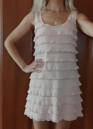 Платье летнее в рюшах