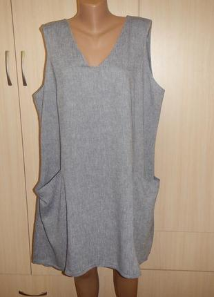 Льняное платье туника f&f р.20