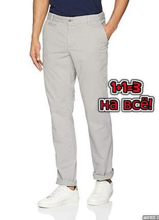 🎁1+1=3 шикарные светло-серые узкие зауженные мужские брюки шта...