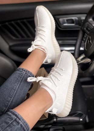 Женские кроссовки Adidas Yeezy Boost 350 White | 35-45.