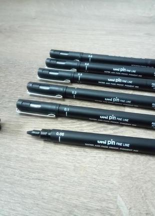 Лайнер 6шт. Liner Uni Pin Fine Line линер новые лучший подарок