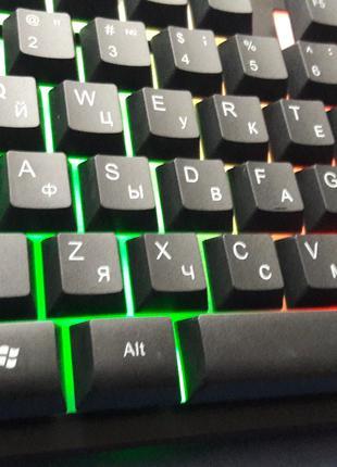Клавиатура профессиальная игровая с подсветкой RK-6300