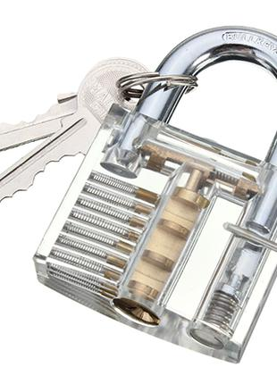 Прозрачный навесной тренировочный замок под английский ключ