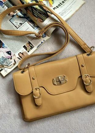 Класна бежева сумочка клатч