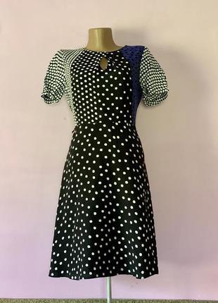 Платье в крупный горошек в горохи яркое стильное