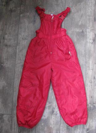 Полукомбинезон 7-8 лет 122-128 см штаны теплые зимние