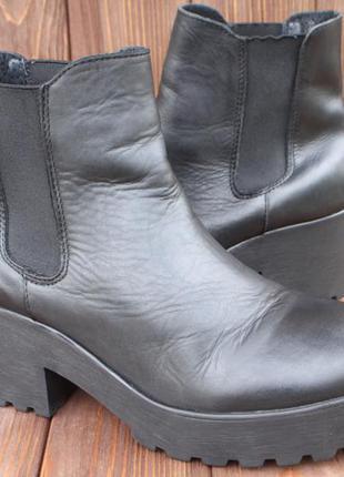 Ботинки pavement кожа испания 39р ботильоны челси