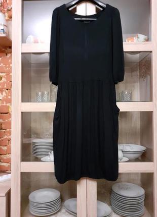 Очень стильное вискозное с карманами платье большого размера