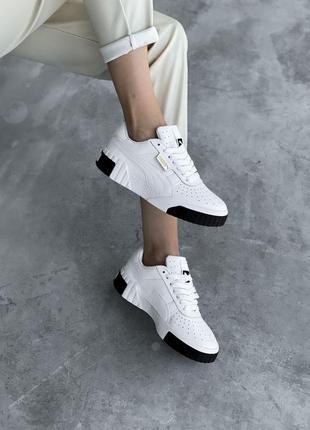 Трендовые женские кроссовки puma cali белые