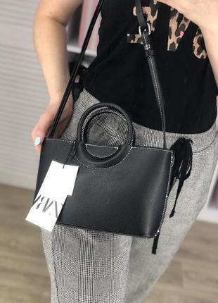 Чёрная сумка зара zara