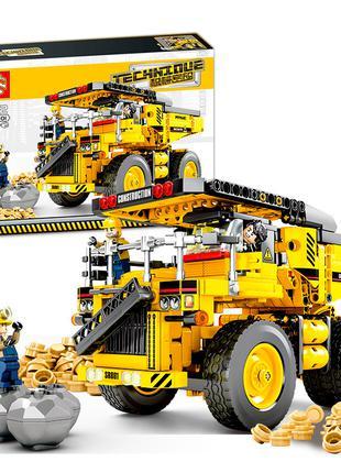 Конструктор Sembo Block 701801 Карьерный самосвал Катерпиллер Cat