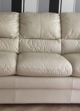 Кожаный диван бу