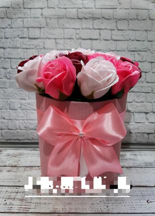 Мыльные розы 19 бутонов троянди