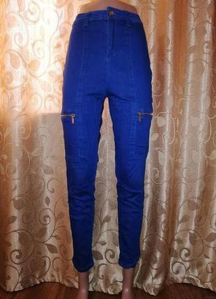 🌹🌹🌹стильные укороченные женские джинсы, штаны с высокой посадк...